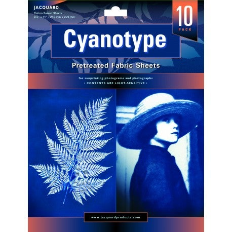 Image of Feuilles de tissu cyanotype /Cyanotype Pretreated Fabric Sheets 216 x 279 mm, 10 pcs