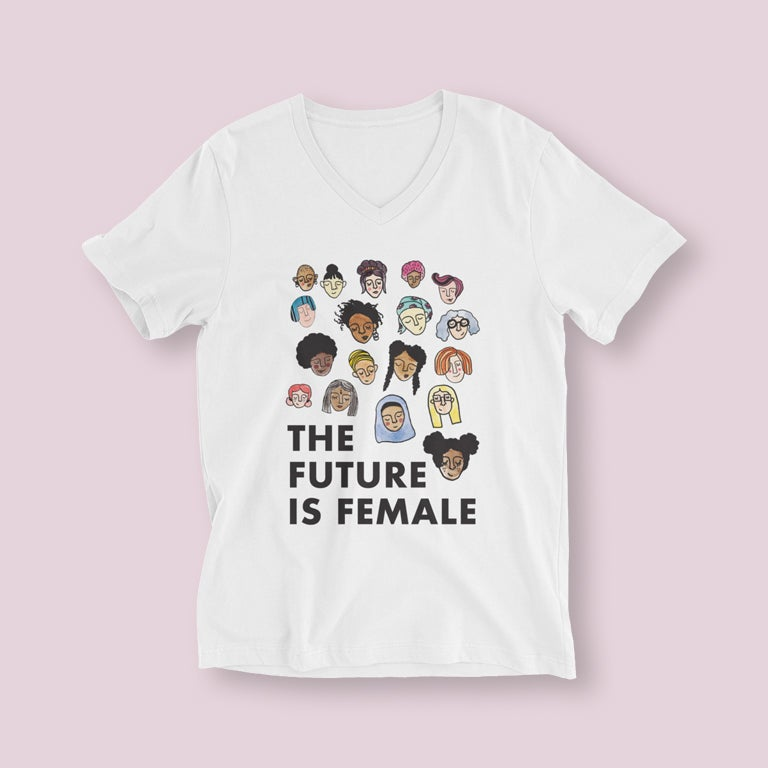 Image of The Future is Female V-Neck Shirt
