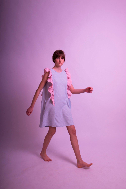 Image of Pünkösdi Rózsa Peony Dress Blue