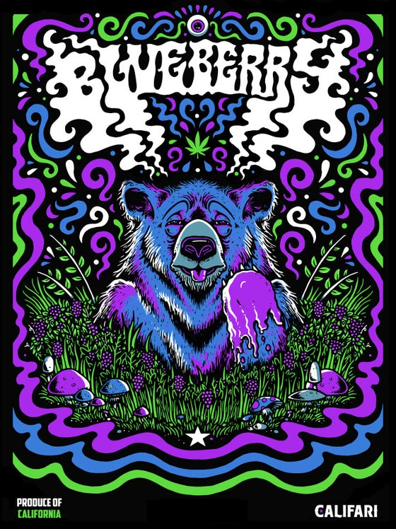 "Image of ""Blueberry"" - Califari strain art print - 2019"