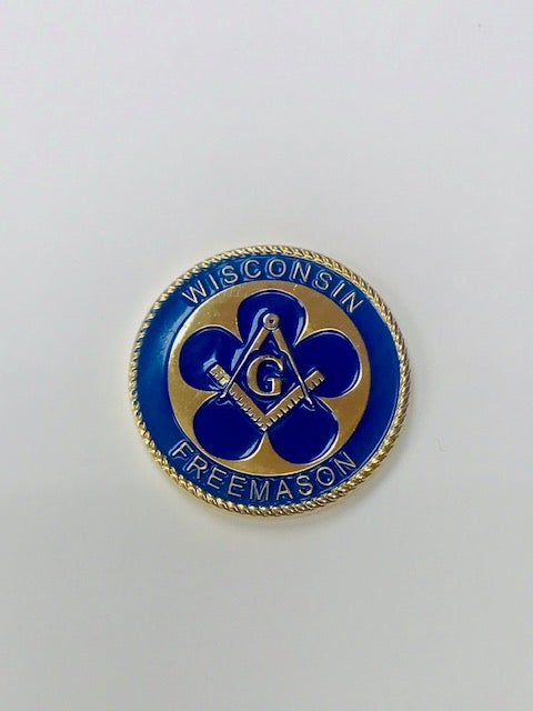 Image of The 175th Anniversary of Freemasonry in Wisconsin Challenge Coin