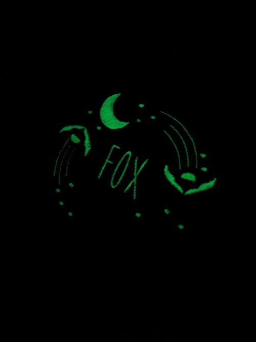 Image of Fireflies that glow in the night (Navy/glow in the dark thread)