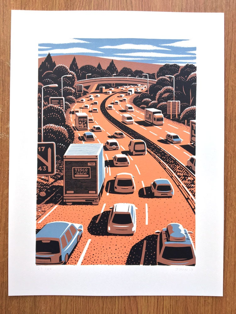 Image of Motorway Screen Print