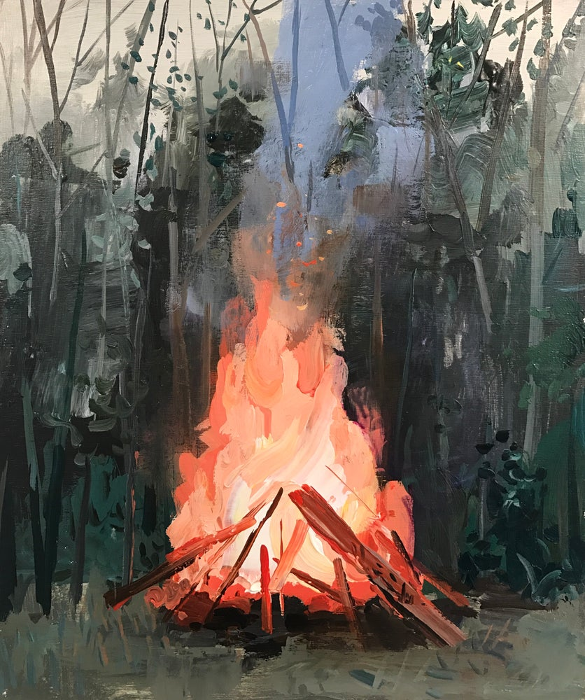 Image of Fire with Choke Cherries