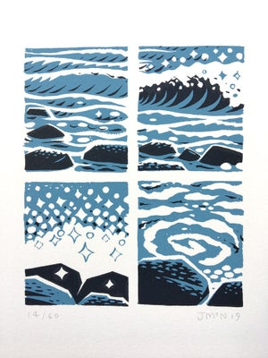 Image of Waves - Screen Print