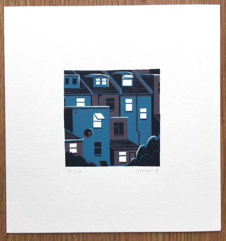 Image of Night Windows - Screen Prints