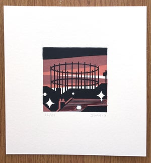 Image of Gas Tower - Screen Print