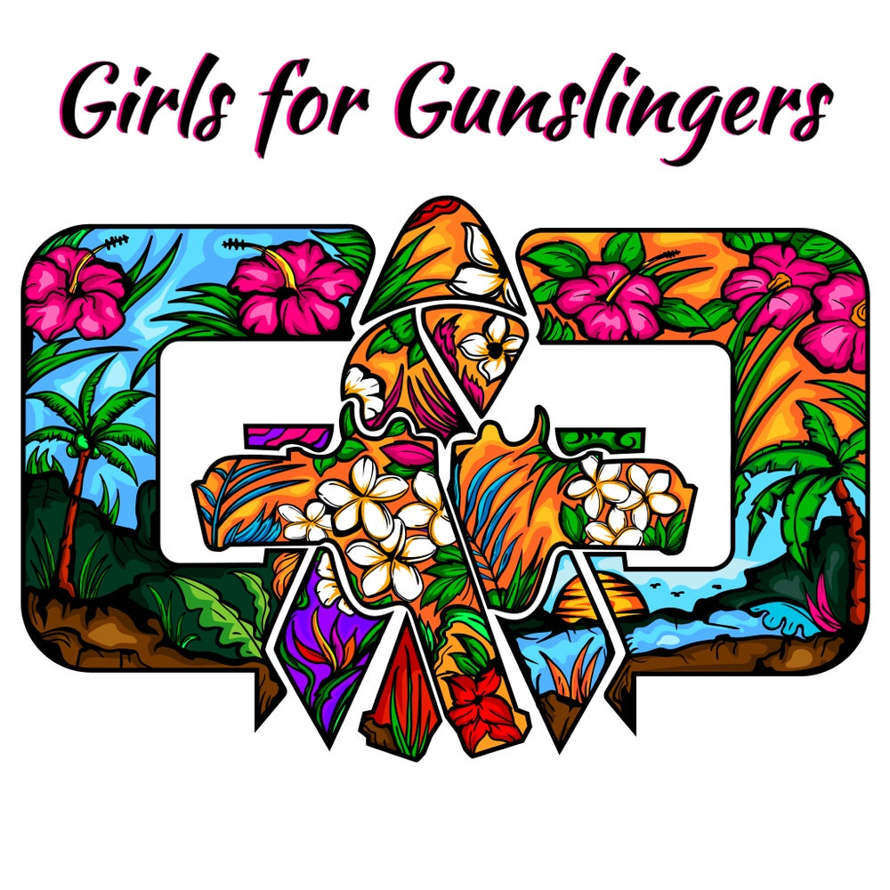 Image of GTW and Girls for Gunslingers G4G collab with watermark sticker