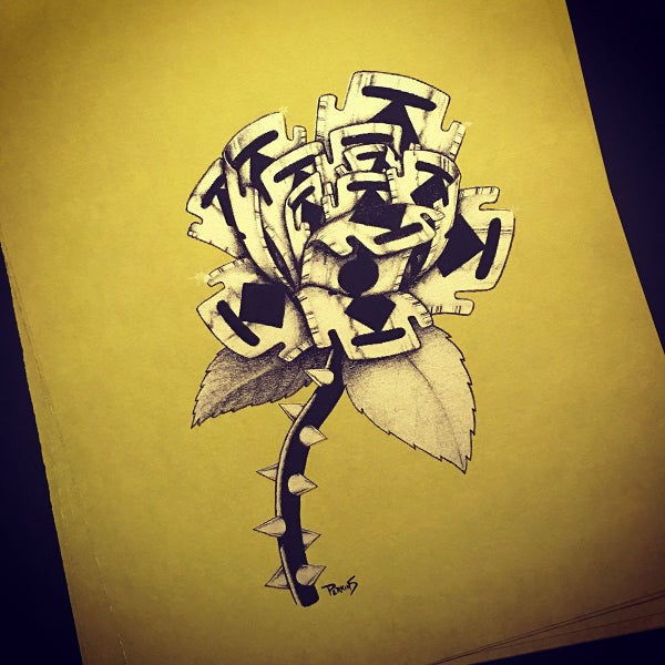 Image of Razor Rose art print