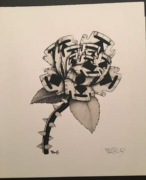 Image of Razor Rose art print