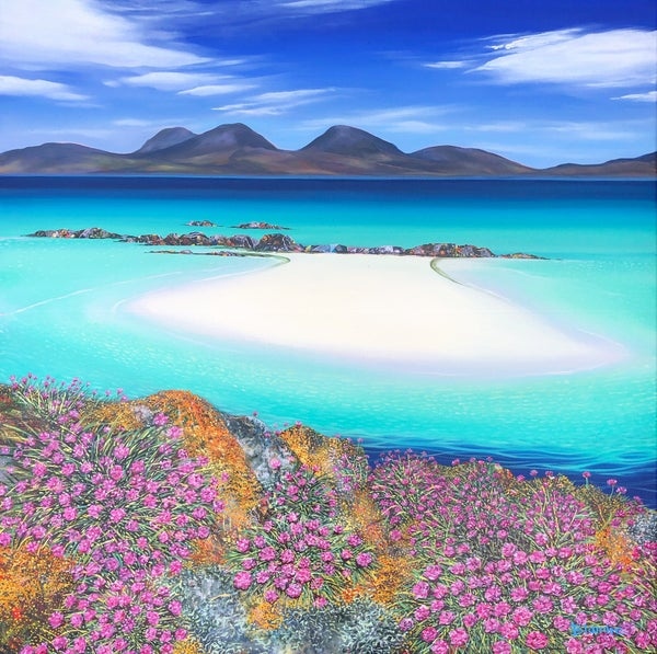 Image of Colonsay sea pinks print ALL sizes