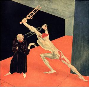 Image of Stanislav Szukalski: Duel Between The Cynic and Idealist Print