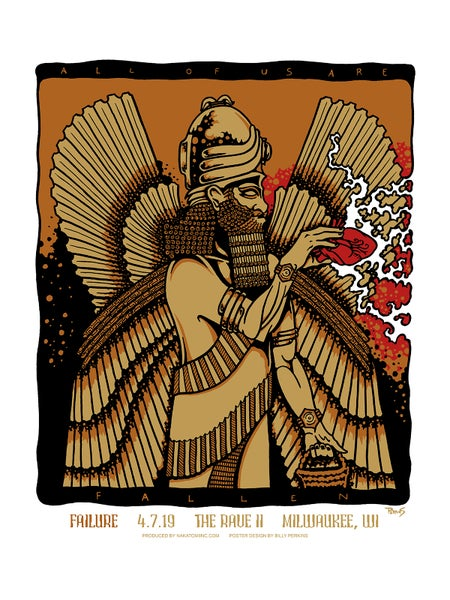 Image of Failure - Official gig poster and art print, Milwaukee 2019