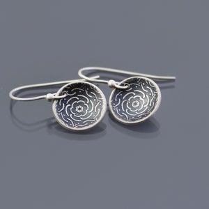 Image of Sterling Silver Peony Earrings