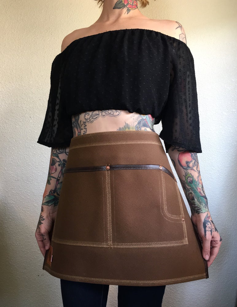 Image of Waxed Canvas Half Apron