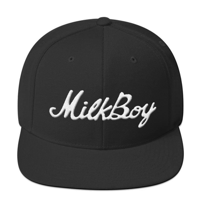 Image of Black Snap-back Hat