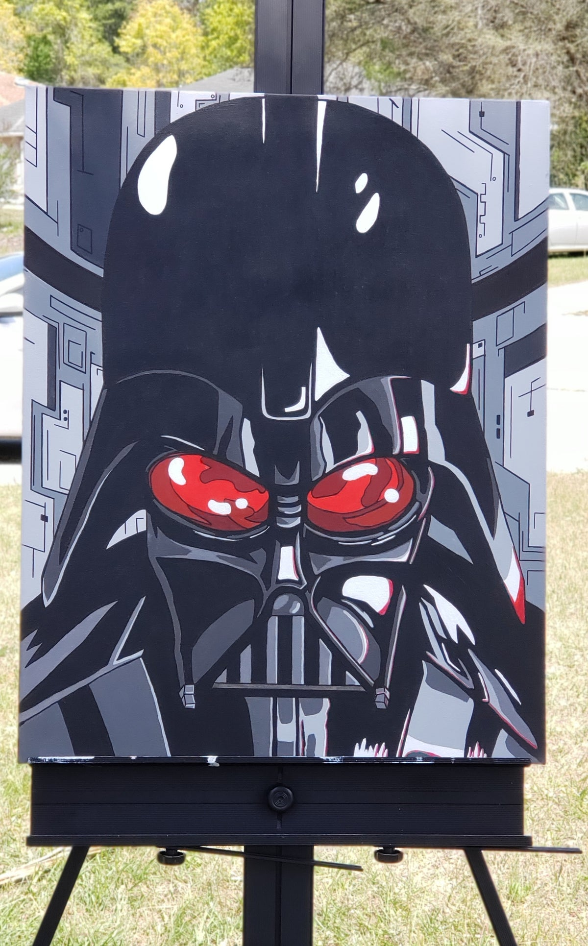 Image of Darth Vader Head Shot
