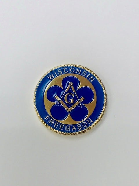 Image of The 175th Anniversary of Freemasonry in Wisconsin Challenge Coin (3-Pack)