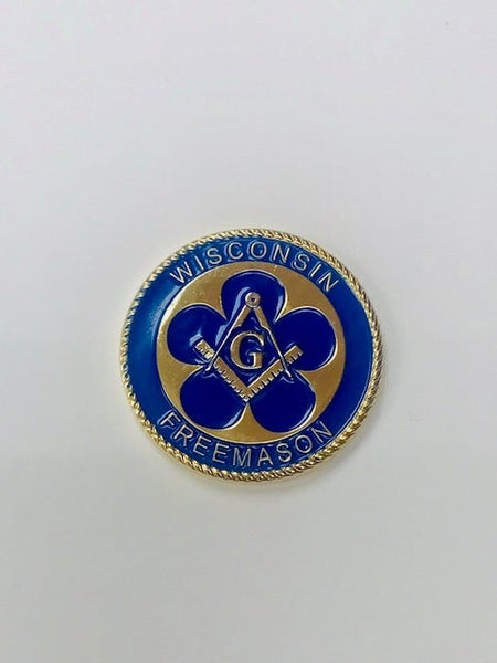 Image of The 175th Anniversary of Freemasonry in Wisconsin Challenge Coin (6-Pack)