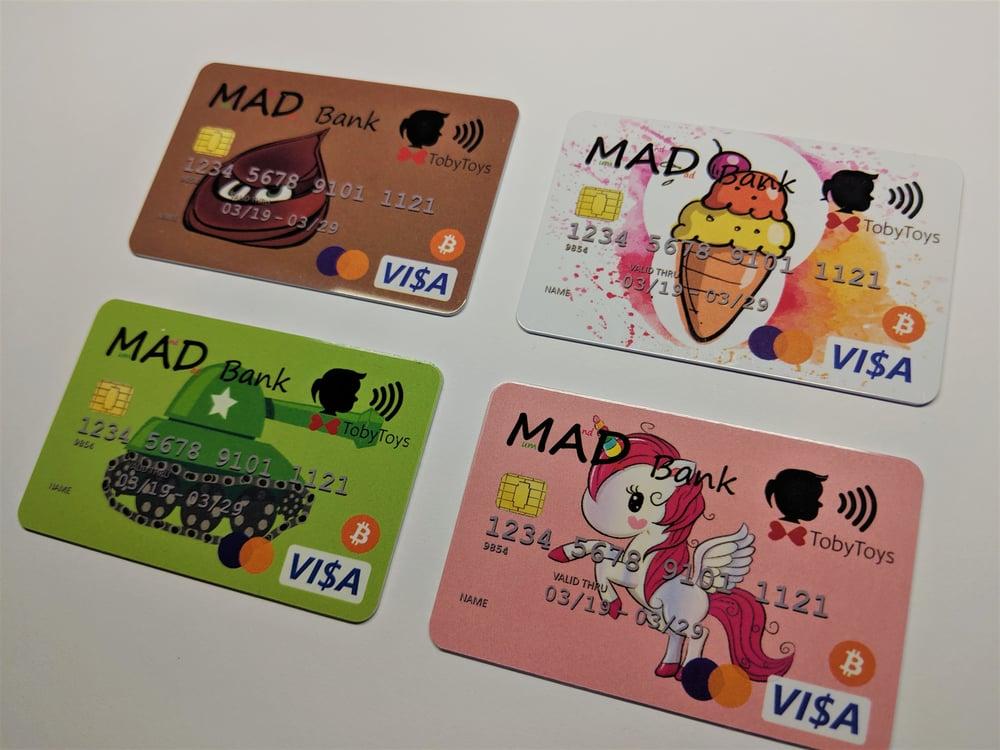 Image of Bank Card for Kids - (MAD Bank) Store Pocket Money Digitally