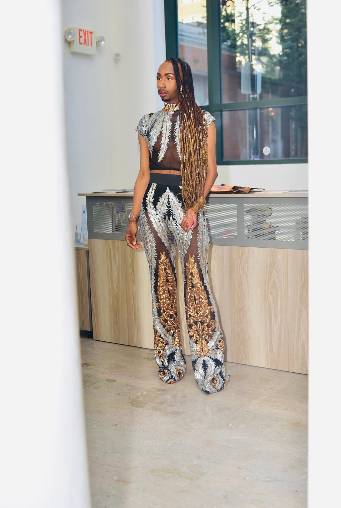 Image of QAY WIDE LEG PANT + CROP TOP