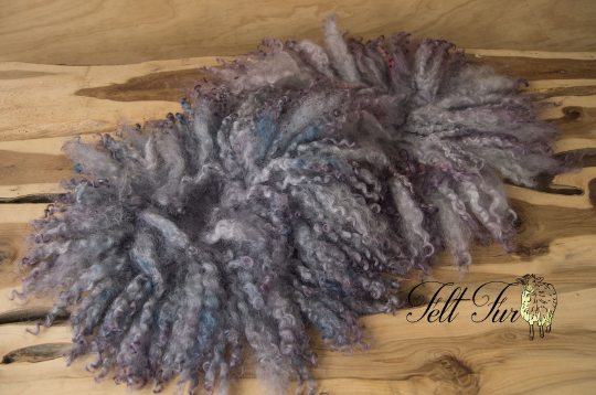 Image of Newborn Prop Set, Felt Fur Size B Prop Bundle. Purple Mix with red /blue accent. (SET30) RTS