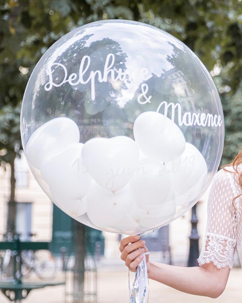 Image of Ballon Bubble Mariage