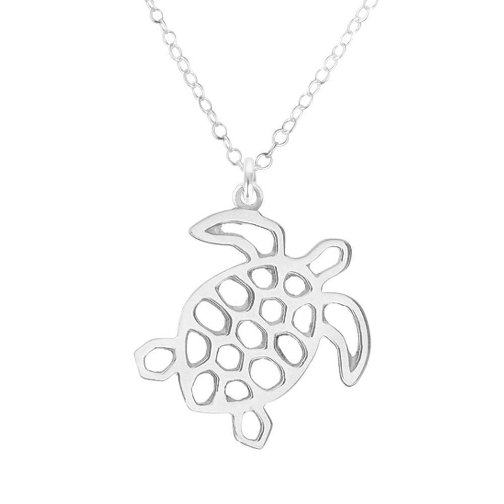 Image of Marine Turtle Necklace - Sterling Silver