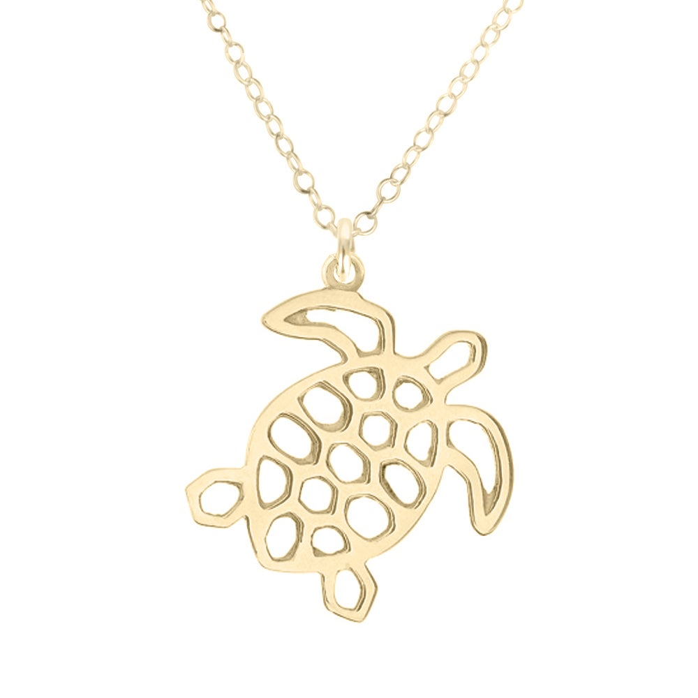 Image of Marine Turtle Necklace - Gold