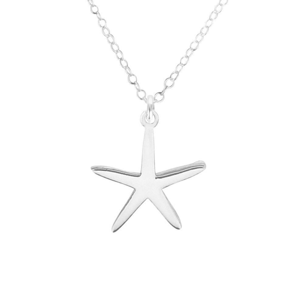 Image of Starfish of the Sea Necklace - Sterling Silver