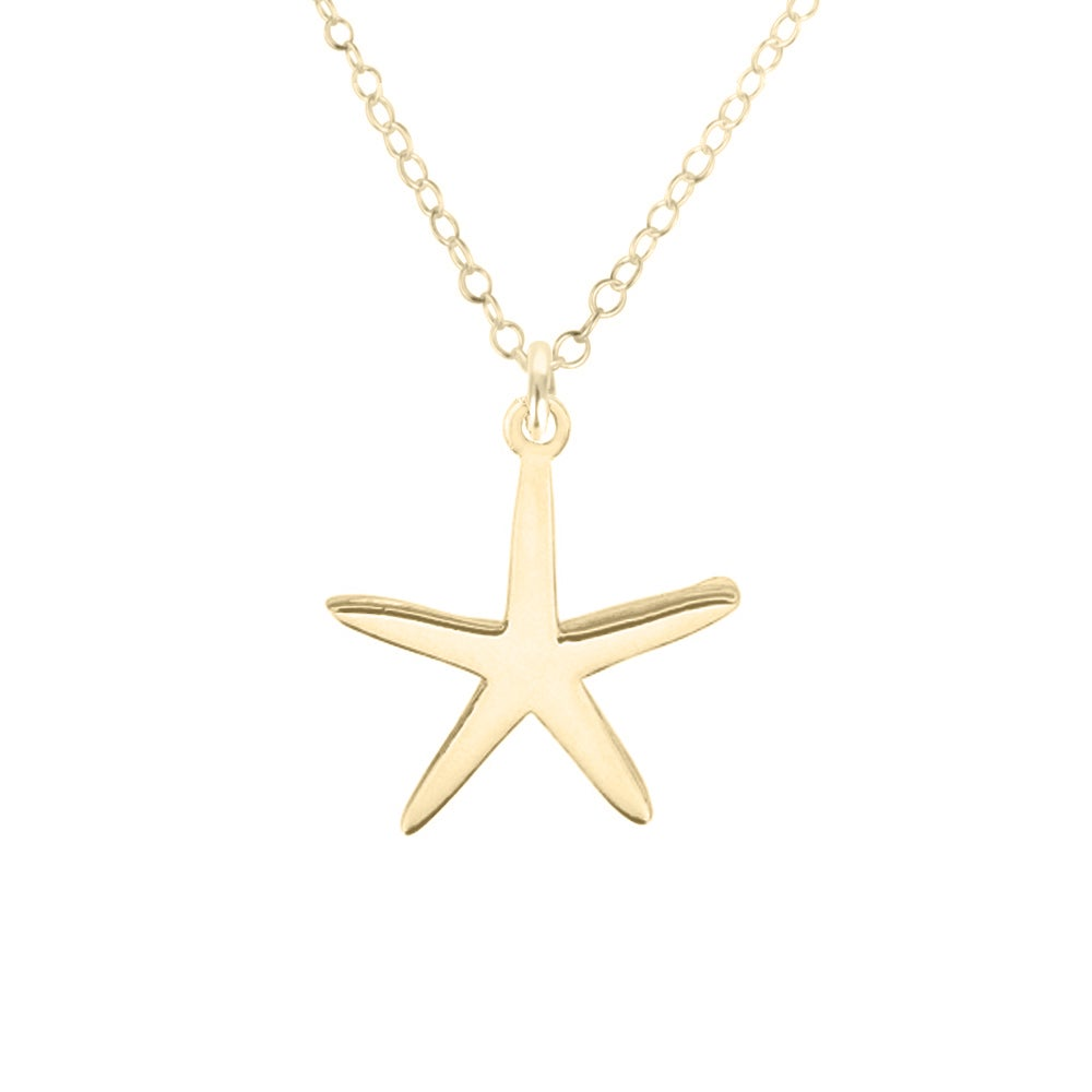 Image of Starfish of the Sea Necklace - Gold