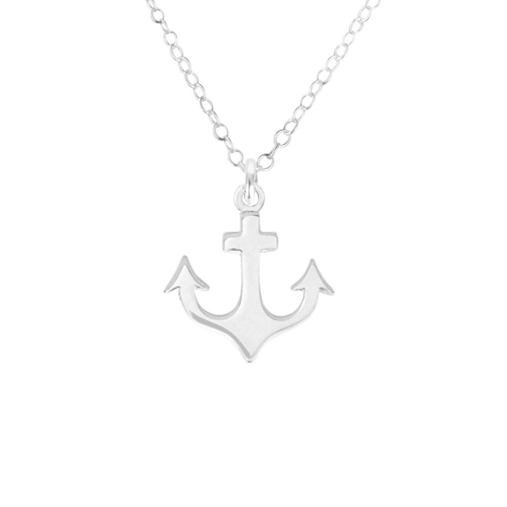 Image of Maritime Anchor Necklace - Sterling Silver