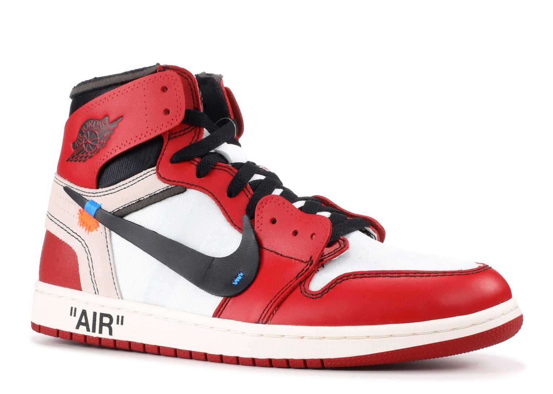 "Image of Nike Retro Jordan 1 Off White ""Chicago"" Sz 10"