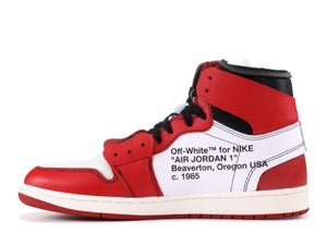 "Image of Nike Retro Jordan 1 Off White ""Chicago"" Sz 10"