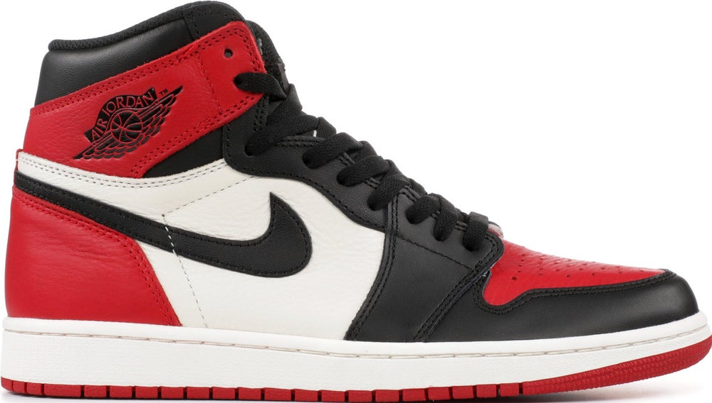 """Image of Nike Retro Air Jordan 1 """"Bred Toe"""" Mens"""