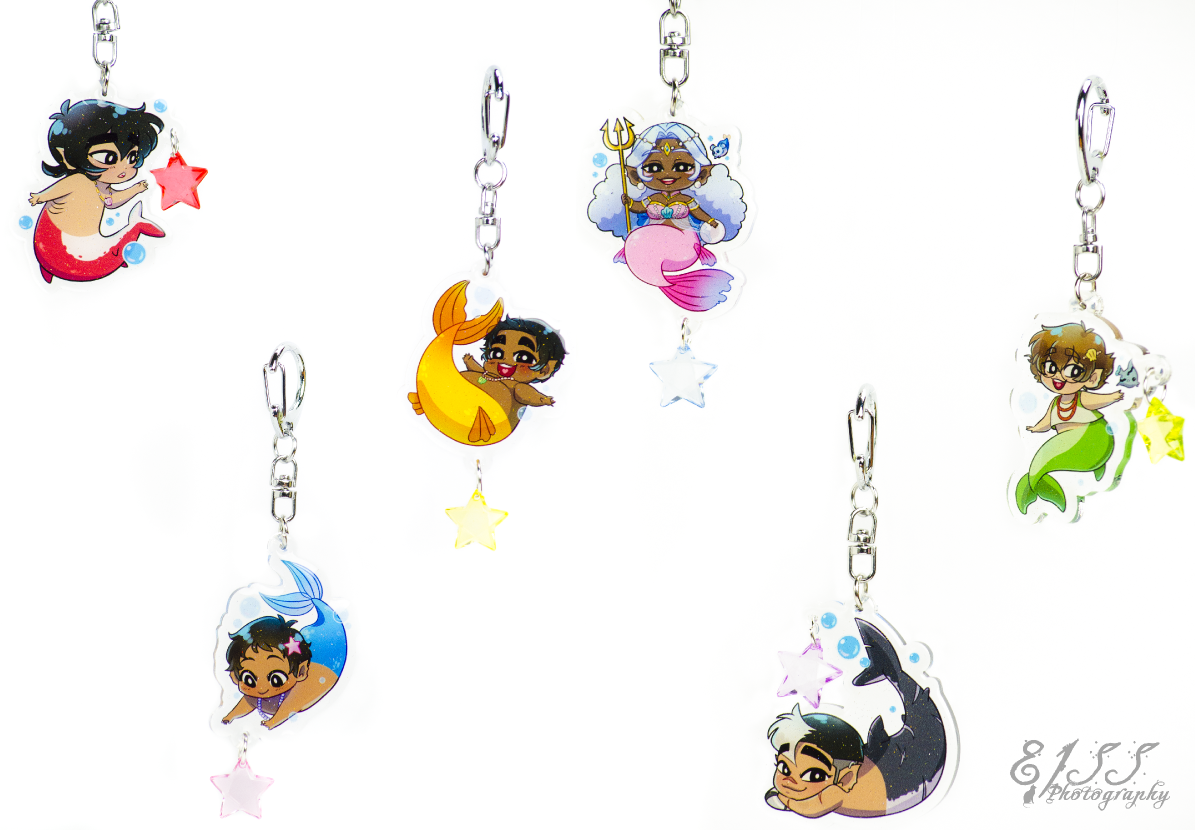 Image of Voltron Buttons, Keychains, & Prints