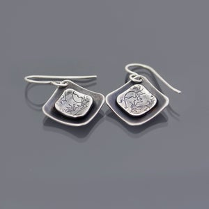 Image of Layered Sterling Silver Vine Lace Earrings