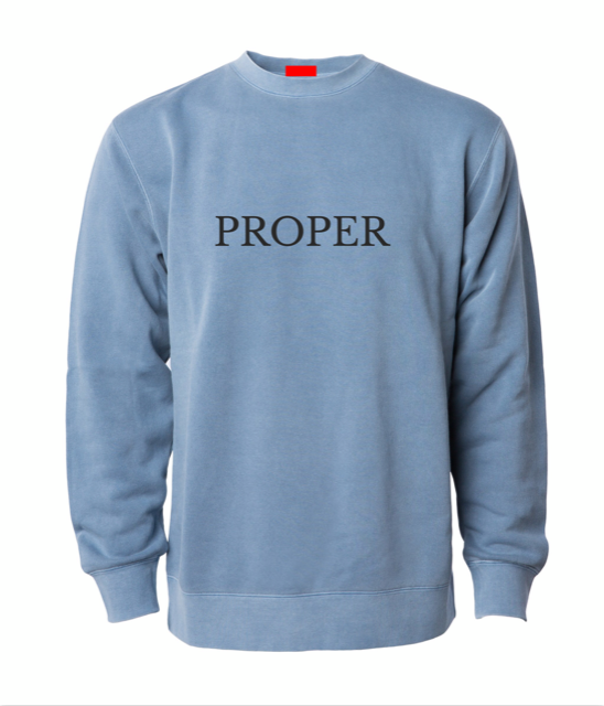 Image of Proper Crewneck - Polar Blue
