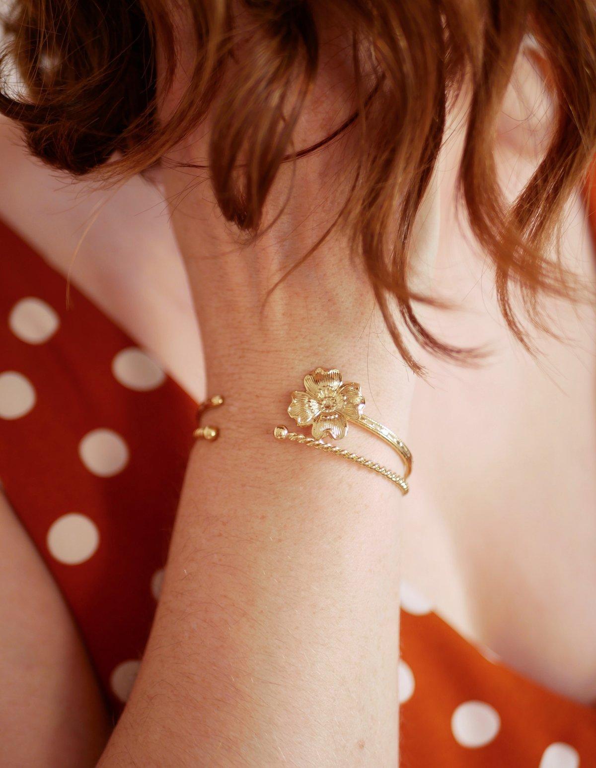Image of Bracelet Jonc HANA Or/Argent