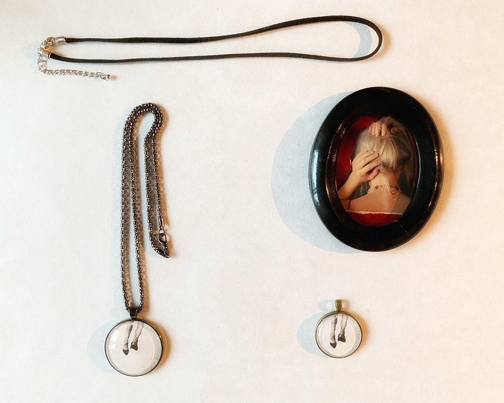 Image of Pendant Necklace Shoes inspired by women
