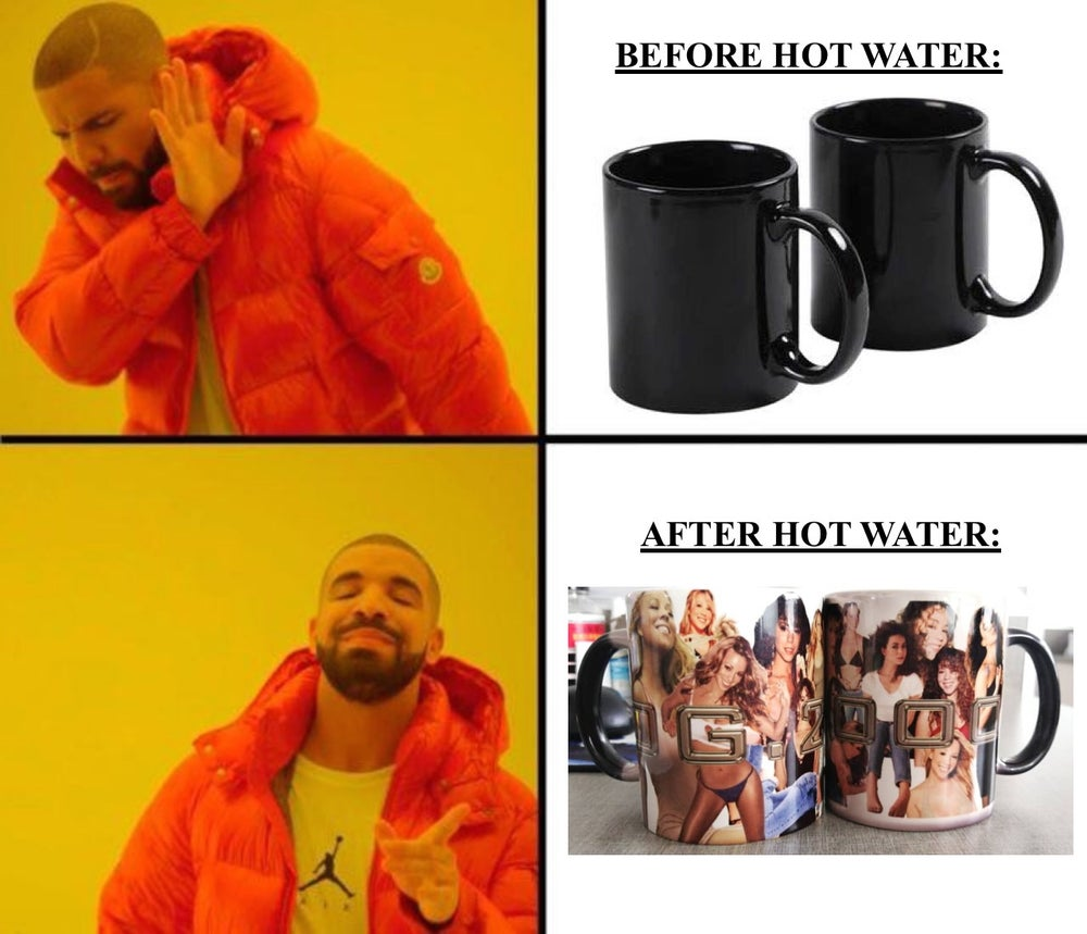 "Image of ""MARIAH COLLAGE"" HEAT CHANGING MUG"