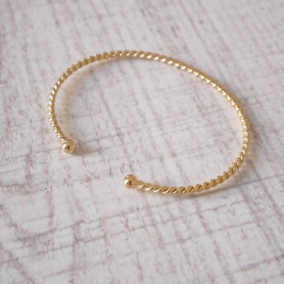 Image of Bracelet Jonc Torsadé Or/Argent