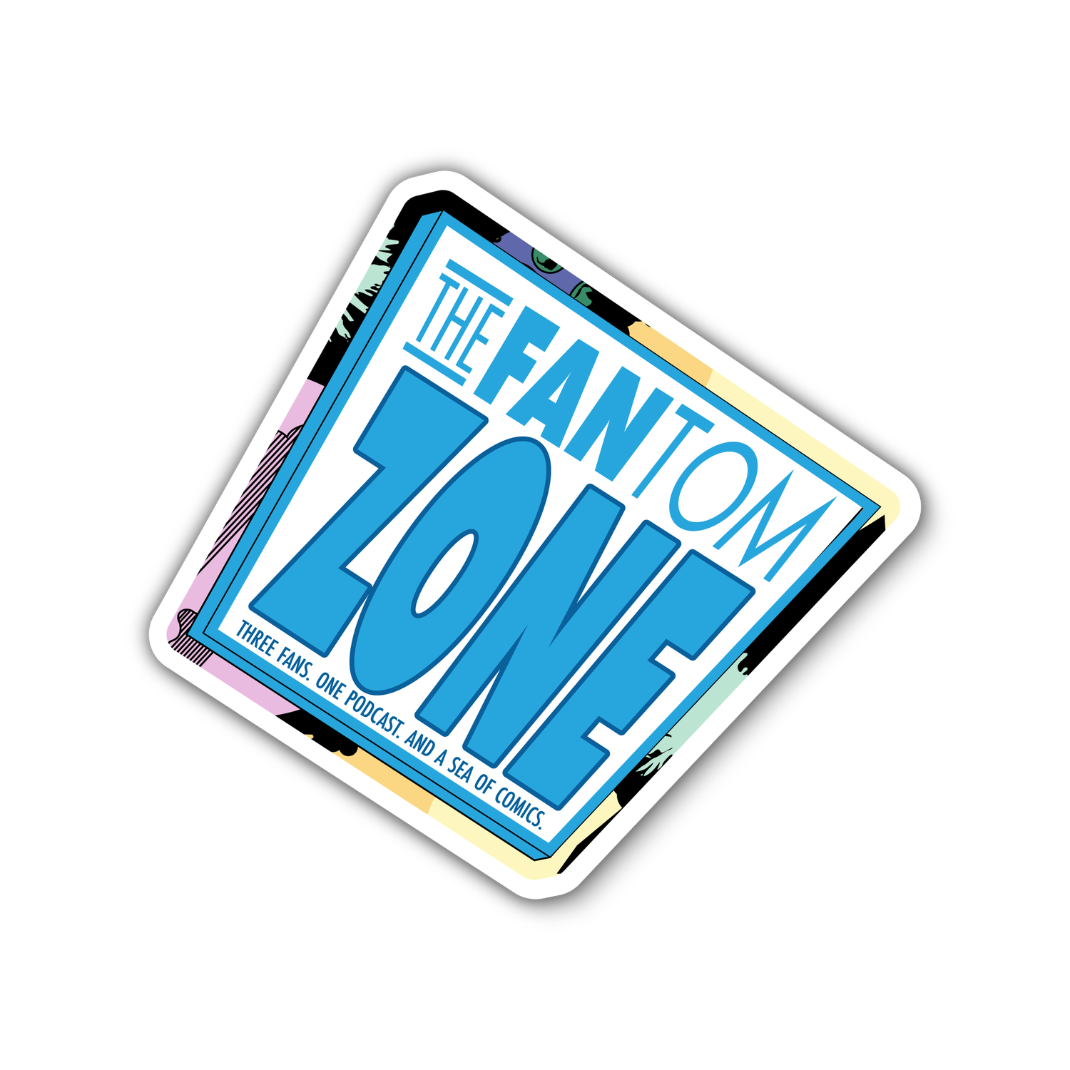 Image of FANtom Zone Three Fans Sticker