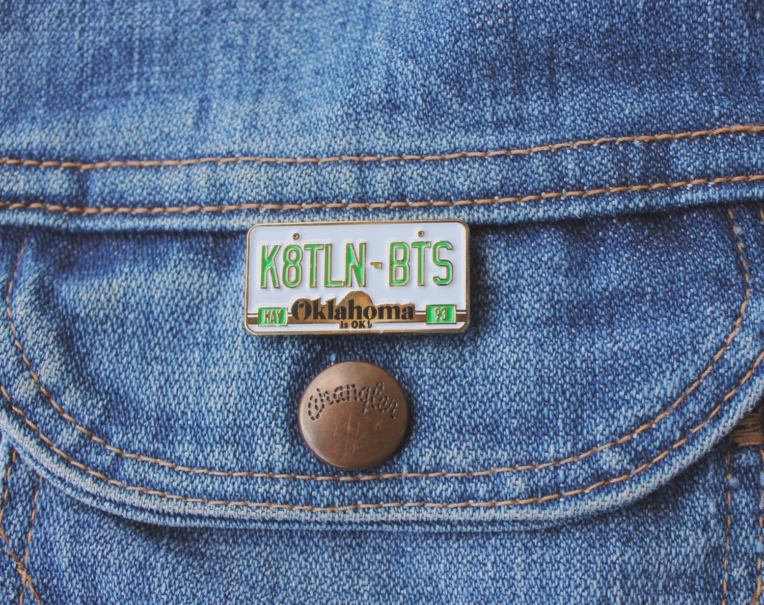 Image of K8TLIN BTS License Plate Pin