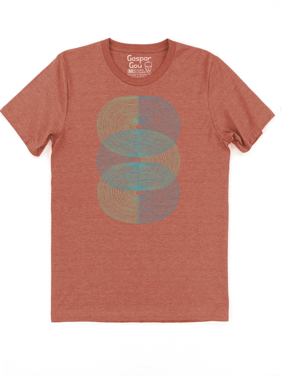 Image of Double S-Curve Charlie Tee - Rust