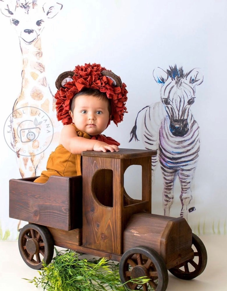 Image of Woodsy Wonders Farmer's Truck, Safari Truck, Wood Photo  Prop Truck, Newborn Truck