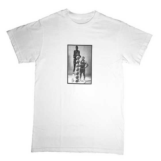 "Image of ""MANUTE BOGUES"" T-SHIRT *** WHITE"