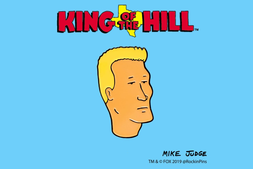 Image of King of the Hill - Boomhauer Head Enamel Pin