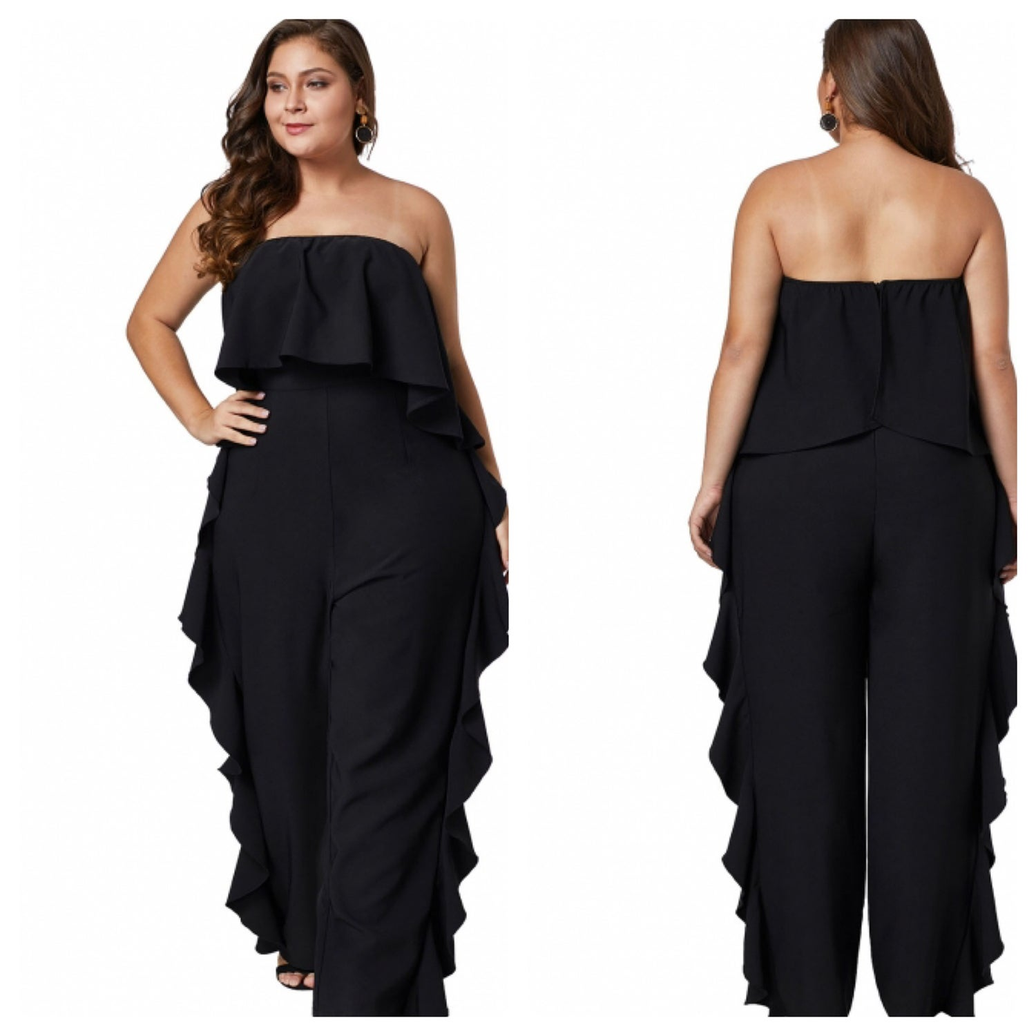 Image of Ruffle Jumpsuit