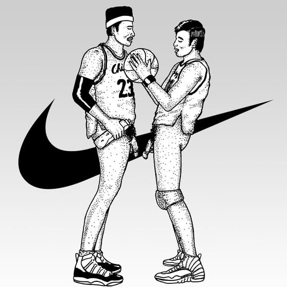 Image of 1 on 1 basketball print